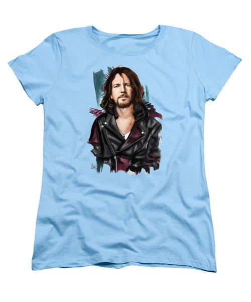 Eddie Vedder Women's T-Shirt (Standard Cut) by Melanie D
