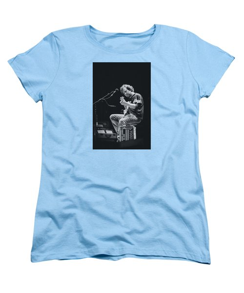 Eddie Vedder Playing Live Women's T-Shirt (Standard Cut) by Marco Oliveira
