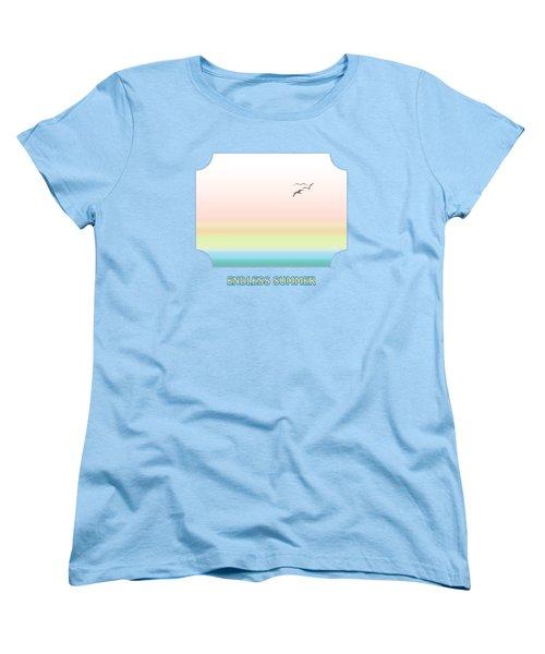 Endless Summer - Blue Women's T-Shirt (Standard Cut) by Gill Billington