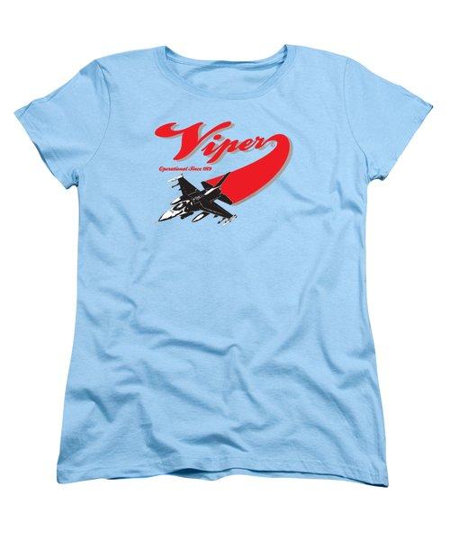 F-16 Swoop Women's T-Shirt (Standard Cut) by Clear II land Net