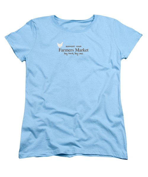 Farmers Market Women's T-Shirt (Standard Cut) by Nancy Ingersoll