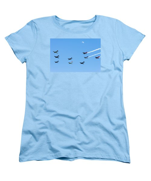 Fly Me To The Moon Women's T-Shirt (Standard Cut) by Marco Oliveira