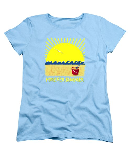 Forever Summer 8 Women's T-Shirt (Standard Cut) by Linda Lees