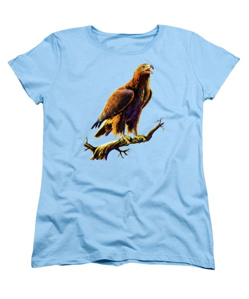 Golden Eagle Women's T-Shirt (Standard Cut) by Anthony Mwangi