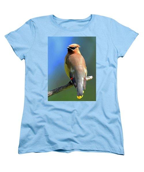 Women's T-Shirt (Standard Cut) featuring the photograph Gorgeous Cedar Waxwing by Rodney Campbell