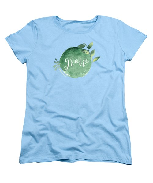 Women's T-Shirt featuring the mixed media Grow by Nancy Ingersoll