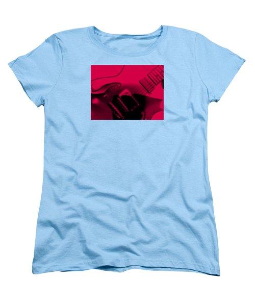 Guitar Watermelon Women's T-Shirt (Standard Cut) by Darin Baker