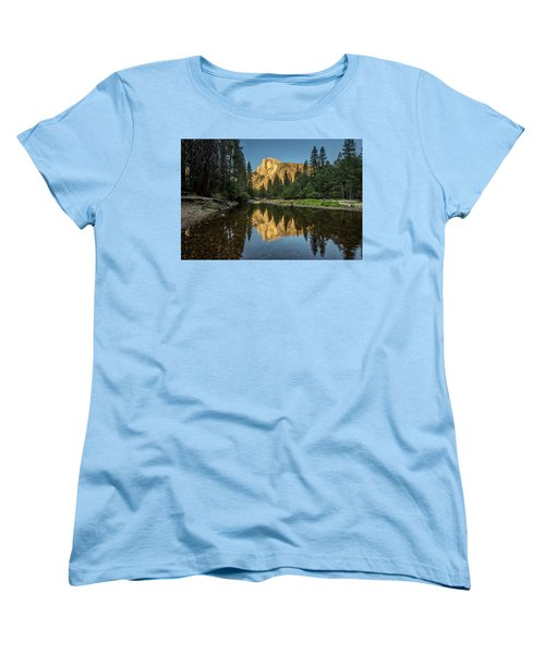 Half Dome From  The Merced Women's T-Shirt (Standard Cut) by Peter Tellone