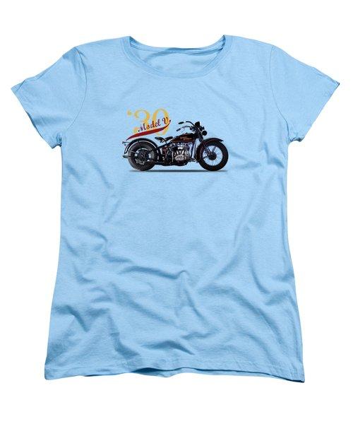 Harley-davidson Model V 1930 Women's T-Shirt (Standard Cut) by Mark Rogan