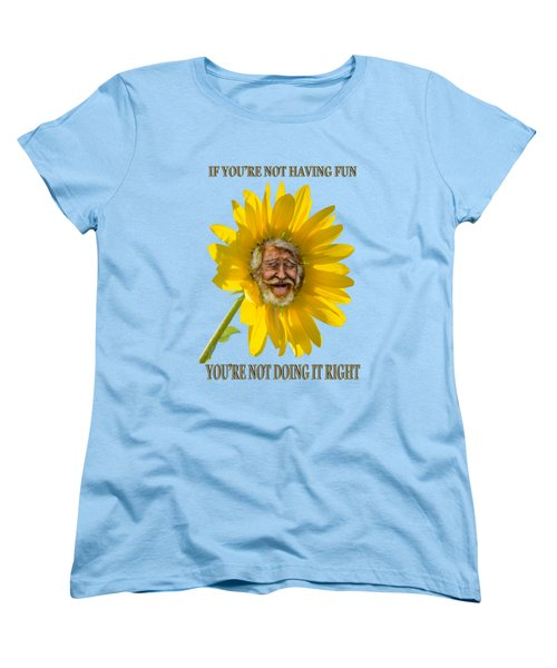 Having Fun Women's T-Shirt (Standard Cut) by Rick Mosher