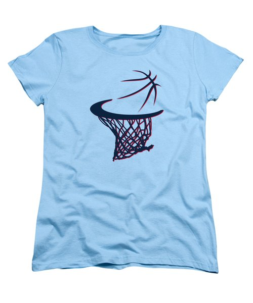 Hawks Basketball Hoop Women's T-Shirt (Standard Cut) by Joe Hamilton