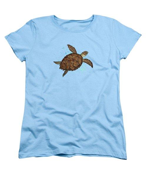 Hawksbill Sea Turtle Women's T-Shirt (Standard Cut) by Amber Marine