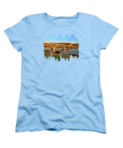 Historic Patterson Bridge Gold Beach Women's T-Shirt (Standard Cut) by Thom Zehrfeld