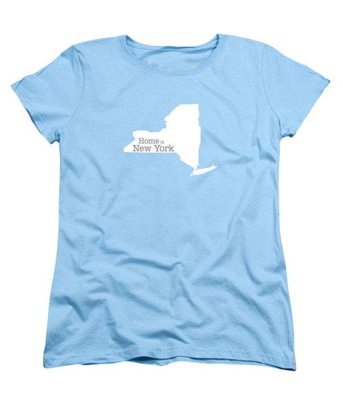 Home Is New York Women's T-Shirt (Standard Cut) by Bruce Stanfield