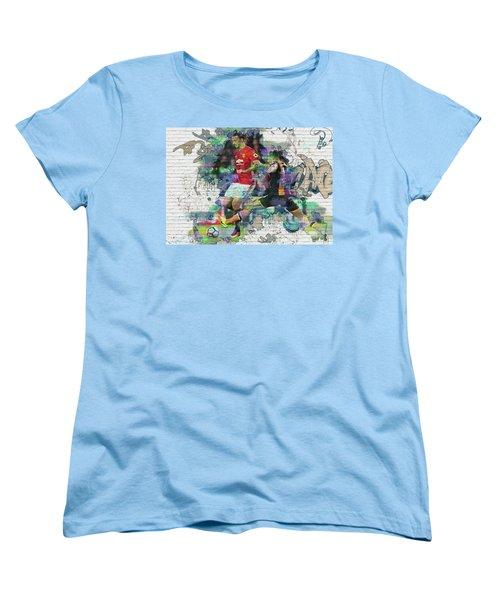 Ibrahimovic Street Art Women's T-Shirt (Standard Cut) by Don Kuing