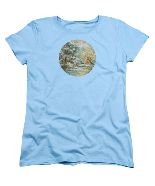 In The Snowy Silence Women's T-Shirt (Standard Cut) by Mary Wolf