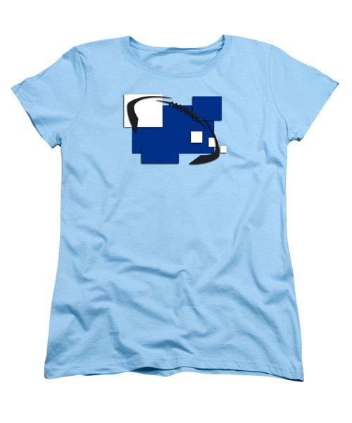 Indianapolis Colts Abstract Shirt Women's T-Shirt (Standard Cut) by Joe Hamilton