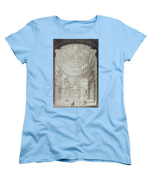 Interior Of Saint Pauls Cathedral Women's T-Shirt (Standard Cut) by John Coney