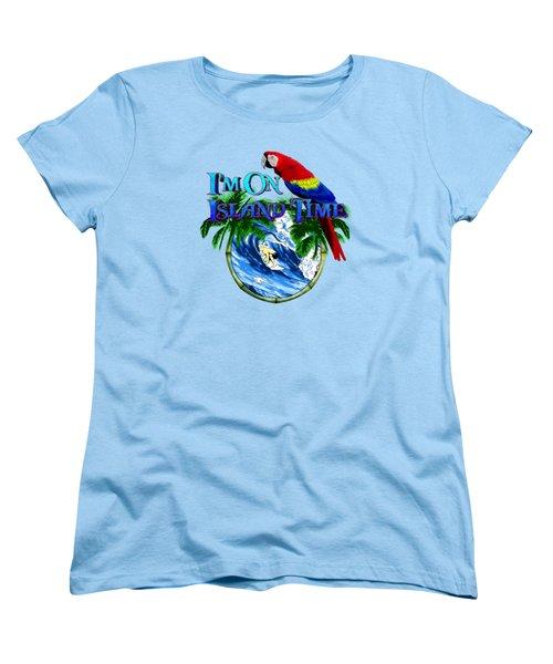 Island Time Surfing Women's T-Shirt (Standard Cut) by Chris MacDonald