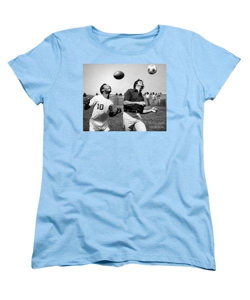 Joe Namath (1943- ) Women's T-Shirt (Standard Cut) by Granger