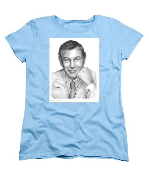 Johnny Carson Women's T-Shirt (Standard Cut) by Greg Joens