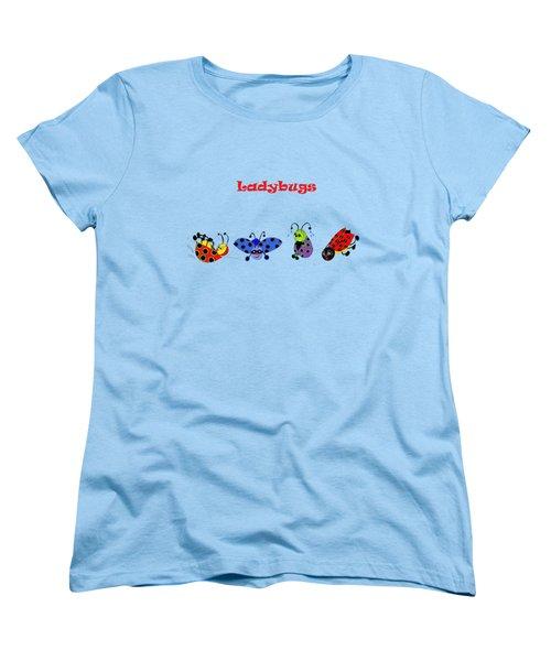 Ladybugs T-shirt Women's T-Shirt (Standard Cut) by Karen Beasley