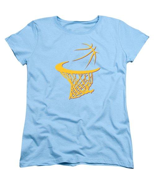 Lakers Basketball Hoop Women's T-Shirt (Standard Cut) by Joe Hamilton