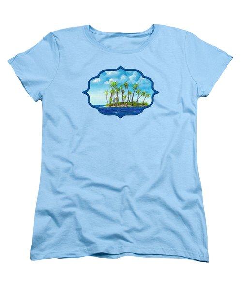 Little Island Women's T-Shirt (Standard Cut) by Anastasiya Malakhova