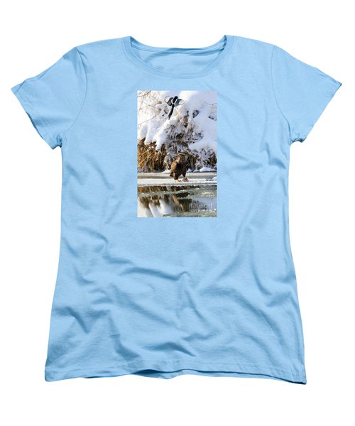Lookout Above Women's T-Shirt (Standard Cut) by Mike Dawson