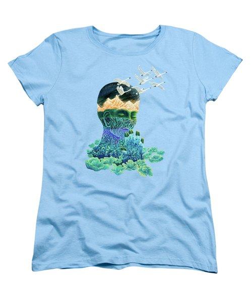 Meditation Women's T-Shirt (Standard Cut) by Ruta Dumalakaite