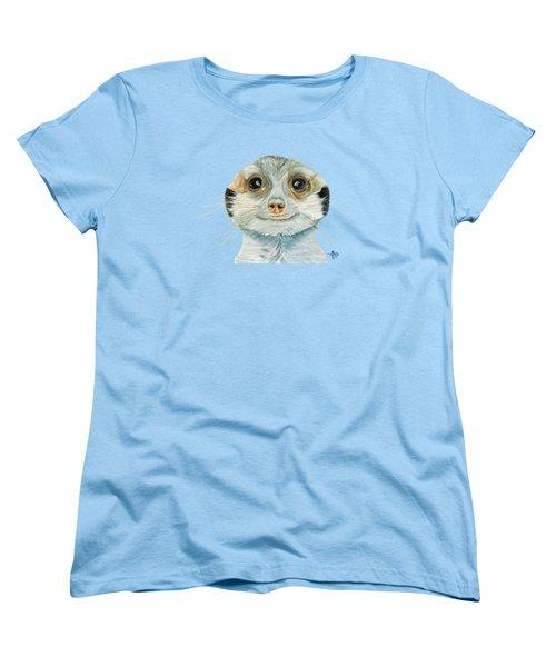 Meerkat Women's T-Shirt (Standard Cut) by Angeles M Pomata