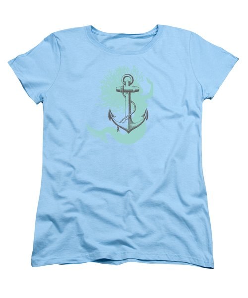 Mermaid And Anchor Women's T-Shirt (Standard Cut) by Sandra McGinley