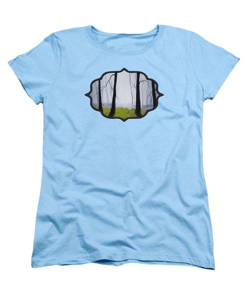 Misty Forest Women's T-Shirt (Standard Cut) by Anastasiya Malakhova