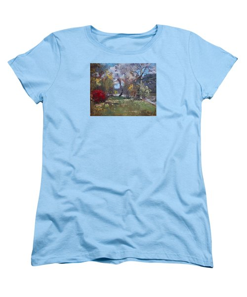 Mixed Weather In A Fall Afternoon Women's T-Shirt (Standard Cut) by Ylli Haruni