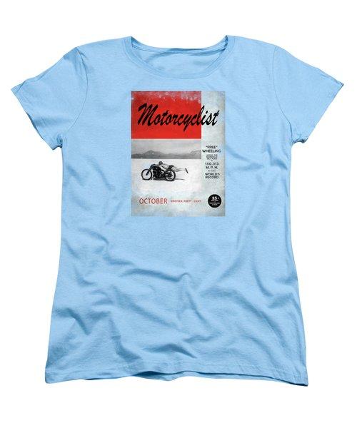 Motorcyclist Magazine - Rollie Free Women's T-Shirt (Standard Cut) by Mark Rogan