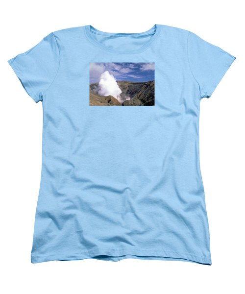 Women's T-Shirt (Standard Cut) featuring the photograph Mount Aso by Travel Pics