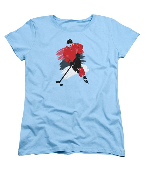 New Jersey Devils Player Shirt Women's T-Shirt (Standard Cut) by Joe Hamilton