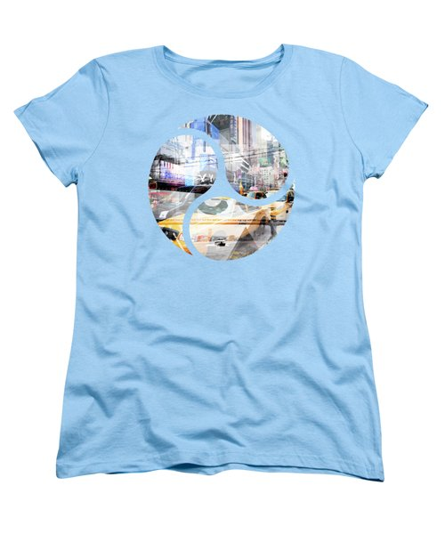 New York City Geometric Mix No. 9 Women's T-Shirt (Standard Cut) by Melanie Viola