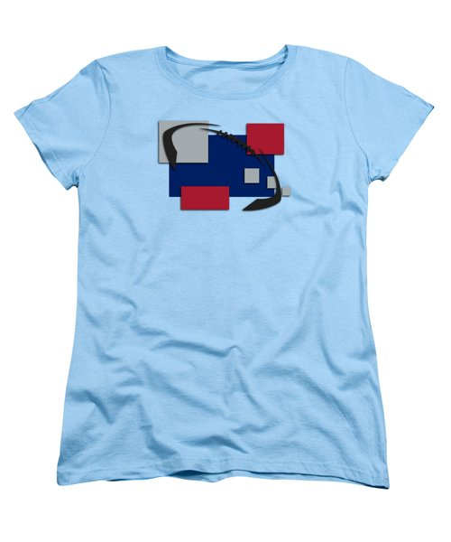 New York Giants Abstract Shirt Women's T-Shirt (Standard Cut) by Joe Hamilton