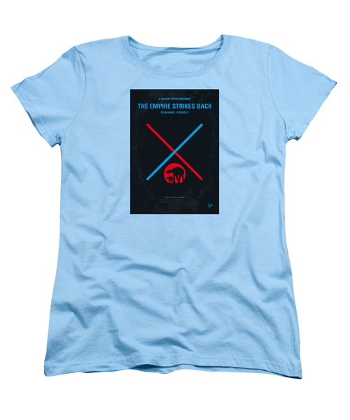 No155 My Star Wars Episode V The Empire Strikes Back Minimal Movie Poster Women's T-Shirt (Standard Cut) by Chungkong Art