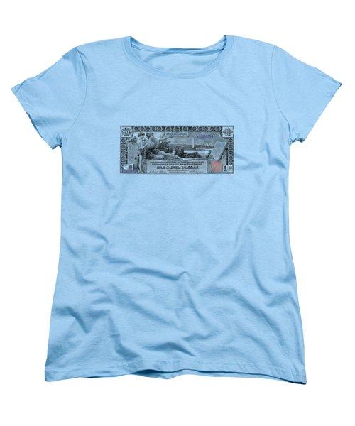 One Dollar Note - 1896 Educational Series  Women's T-Shirt (Standard Cut) by Serge Averbukh