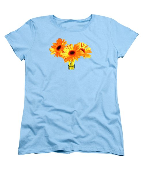 Orange Gerbera's Women's T-Shirt (Standard Cut) by Scott Carruthers