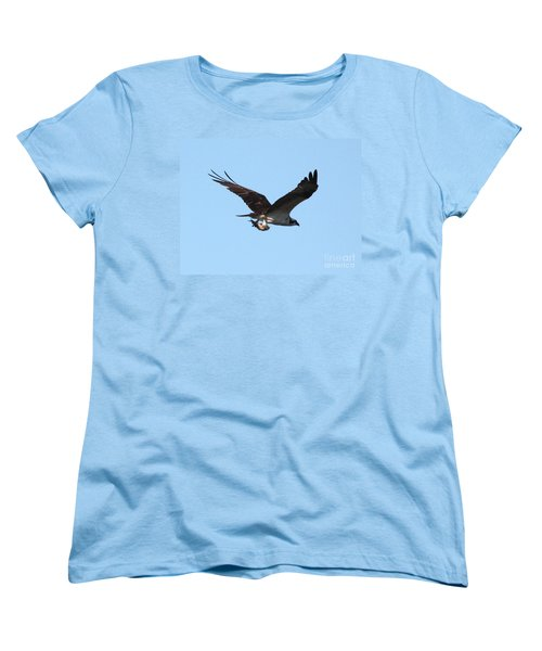 Osprey With Fish Women's T-Shirt (Standard Cut) by Carol Groenen