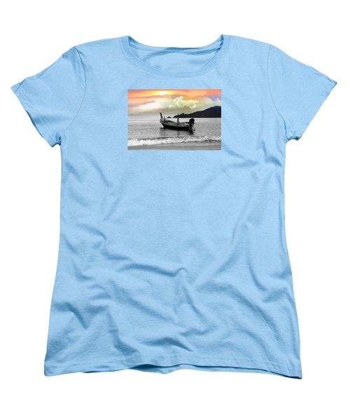 Patong Beach Women's T-Shirt (Standard Cut) by Mark Ashkenazi