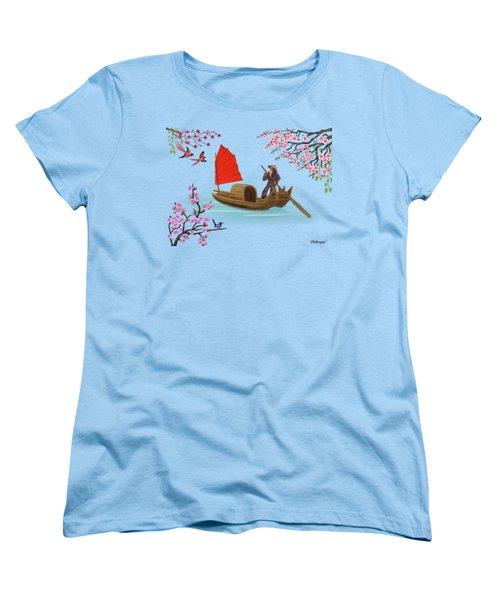 Peaceful Journey Women's T-Shirt (Standard Cut) by Glenn Holbrook