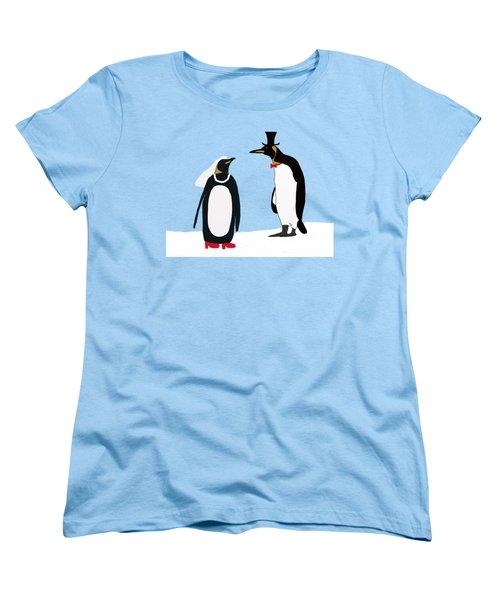 Penguin Marriage Women's T-Shirt (Standard Cut) by Priscilla Wolfe