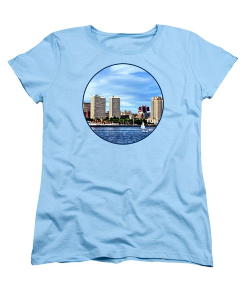 Philadelphia Pa Skyline Women's T-Shirt (Standard Cut) by Susan Savad