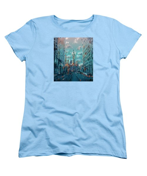 Philadelphia Street Women's T-Shirt (Standard Cut) by Bekim Art