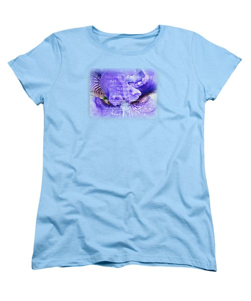 Pretty Purple - Verse Women's T-Shirt (Standard Cut) by Anita Faye
