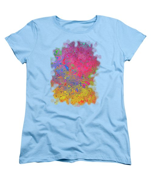 Psychedelic Laundry Transparent Design Women's T-Shirt (Standard Cut) by Shelly Weingart